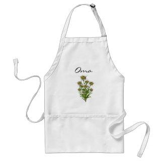 Edelweiss elegante florece el delantal