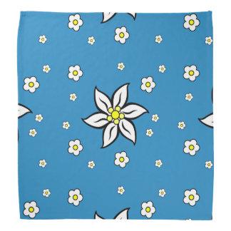 Edelweiss en azul bandana