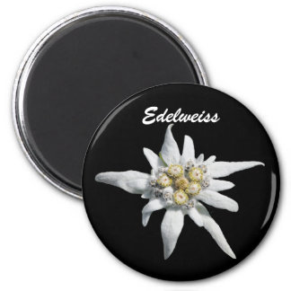 Edelweiss Flower Bloom 2 Inch Round Magnet