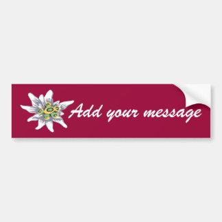 Edelweiss flower car bumper sticker