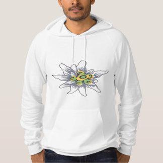 Edelweiss flower hoodie