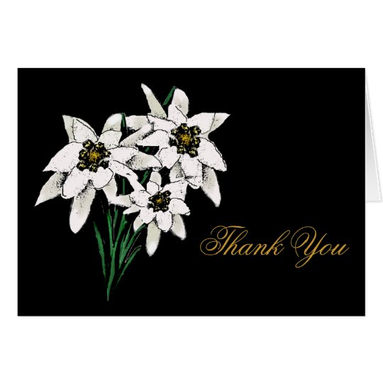 Edelweiss Flower Thank You Card