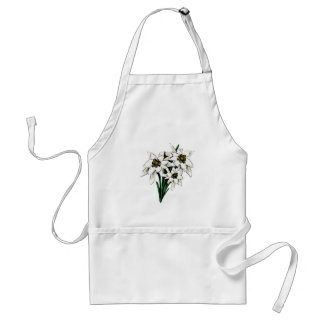 Edelweiss Flowers Adult Apron