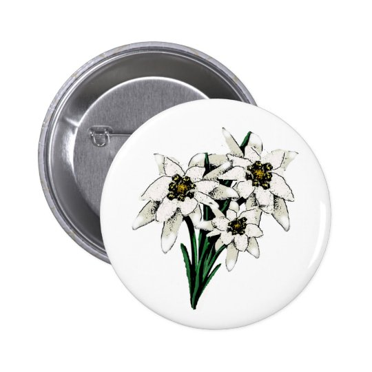 Edelweiss Flowers Button
