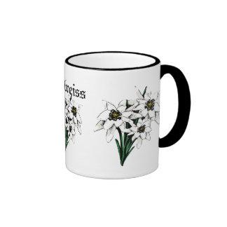Edelweiss Flowers Ringer Mug