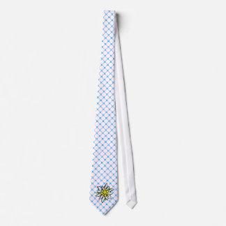 Edelweiss on Weis blue Neck Tie