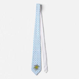 Edelweiss on Weis blue Tie