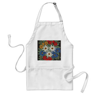 Edelweiss Swiss Alpine Flower Adult Apron