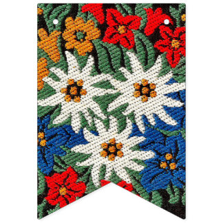 Edelweiss Swiss Alpine Flower Bunting Flags