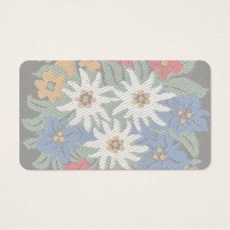 Edelweiss Swiss Alpine Flower Business Card