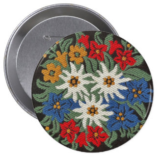 Edelweiss Swiss Alpine Flower Pinback Button