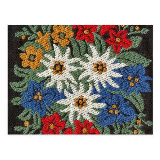 Edelweiss Swiss Alpine Flower Postcard