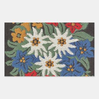 Edelweiss Swiss Alpine Flower Rectangular Sticker