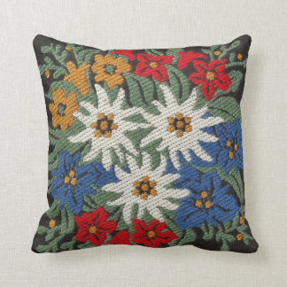 Edelweiss Swiss Alpine Flower Throw Pillow