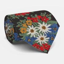 Edelweiss Swiss Alpine Flower Tie