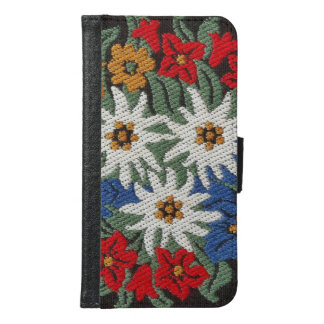 Edelweiss Swiss Alpine Flower Wallet Phone Case For Samsung Galaxy S6