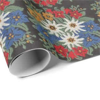 Edelweiss Swiss Alpine Flower Wrapping Paper