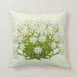 Edelweiss Swiss Mountain Flowers Pillow