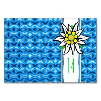 Edelweiss Tischkarten Card