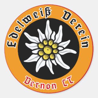 edelweiss verein vernon ct classic round sticker