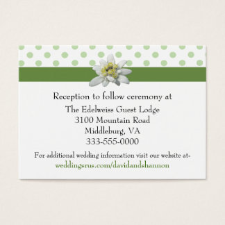 Edelwiess and Polka Dots Wedding Enclosure Card