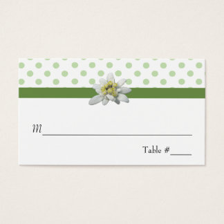 Edelwiess and Polka Dots Wedding Place Card