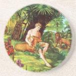 Eden Adán en el jardín Posavasos Manualidades