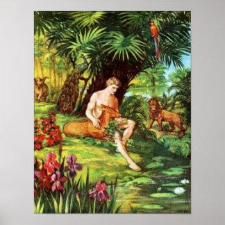 Eden Adán en el jardín Póster
