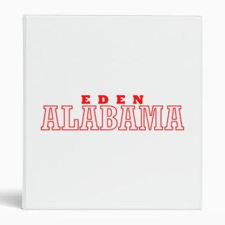 Eden, Alabama 3 Ring Binder