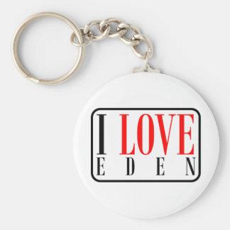 Eden, Alabama Basic Round Button Keychain