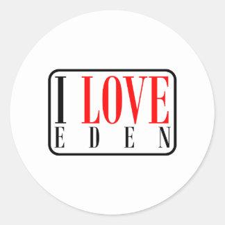Eden, Alabama Classic Round Sticker