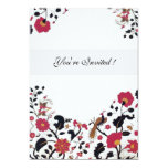 EDEN ,black and white ,red pink 5x7 Paper Invitation Card