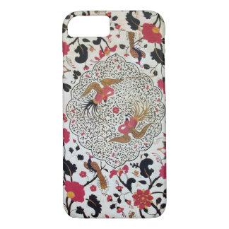 EDEN / ELEGANT RED BLACK WHITE FLOWERS AND BIRDS iPhone 8/7 CASE