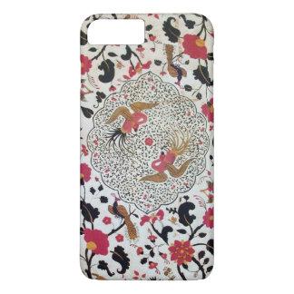 EDEN / ELEGANT RED BLACK WHITE FLOWERS AND BIRDS iPhone 8 PLUS/7 PLUS CASE