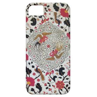 EDEN / ELEGANT RED BLACK WHITE FLOWERS AND BIRDS iPhone SE/5/5s CASE