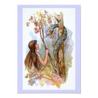 Eden Eve y la serpiente Invitación 12,7 X 17,8 Cm