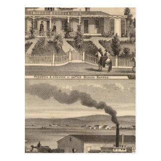 Eden Landing, Barron residence, warehouses Postcard