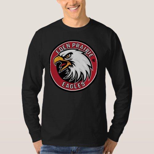 Eden Prairie Eagles Round Shield for Dark T_Shirt