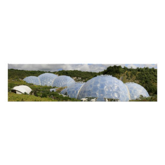 Eden Project Domes at St. Austell Cornwall Poster