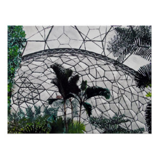 Eden Project Painting Poster