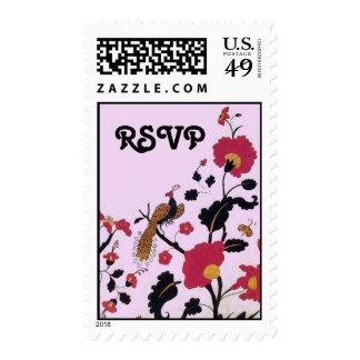 EDEN ,rsvp ,black ,red ,pink Stamps