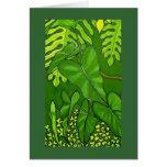 Eden tropical, detalle tarjeta de felicitación