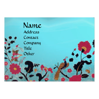 EDEN / WHIMSICAL GARDEN ,blue aquamarine Business Card Template