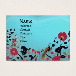 EDEN / WHIMSICAL GARDEN ,blue aquamarine Business Card