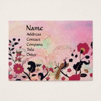 EDEN / WHIMSICAL GARDEN IN GOLD SPARKLES BUSINESS CARD
