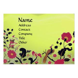 EDEN / WHIMSICAL GARDEN ,yellow topaz Business Card Templates