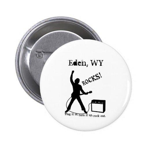 Eden, WY Pinback Buttons