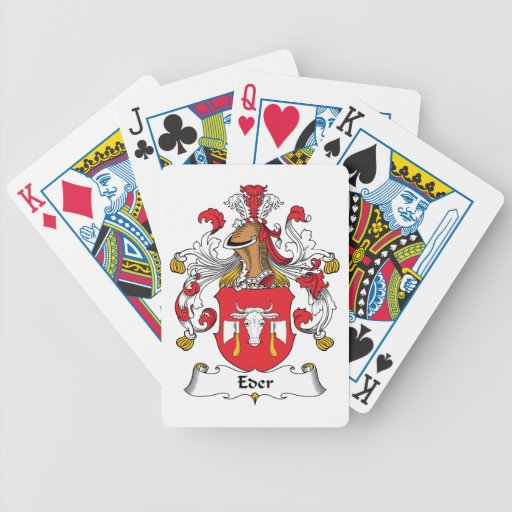 Eder Family Crest Playing Cards