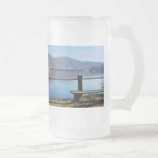 Edersee concrete dam from the water side frosted glass beer mug