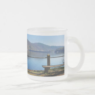 Edersee concrete dam from the water side frosted glass coffee mug